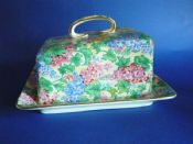 Rare Vintage Grimwades Royal Winton 'Somerset' Chintz Dane Cheese Dish c1940